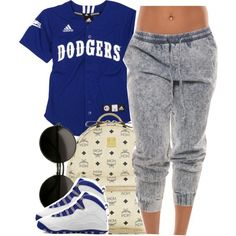 Dodgers, created by clickk-mee on Polyvore