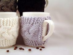 4er Set Hand stricken Kaffee Mug gemütlich von TravisTreasureBox