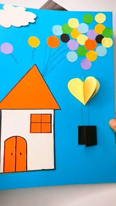Paper Crafts Origami, Paper Crafts For Kids, Craft Activities For Kids, Preschool Crafts, Fun Crafts, Diy Paper, Diy Crafts For Kids Easy, Creative Arts And Crafts, Christmas Crafts For Kids To Make