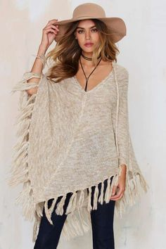 Nasty Gal Knitflix and Chill Poncho | Shop Clothes at Nasty Gal!