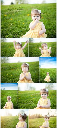 Simple outdoor toddler portraits