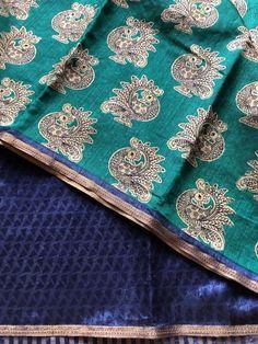 Printed art silk saree Raw Silk Saree, Silk Sarees, Trendy Sarees, Indian Outfits, Color Combos, Alexander Mcqueen Scarf, Art Prints, Printed, Accessories