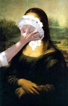 Face Pie Mona Lisa parody - by Didas, via megamonalisa Lisa Gherardini, Pop Art, La Madone, Mona Lisa Parody, Mona Lisa Smile, Tachisme, Face Illustration, Photocollage, Famous Art