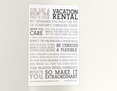 We've teamed up with Rentals United to sell their adorable Vacation Rental Manifesto Magnet! Think of this magnet as the house rules of the vacation rental industry. Leave one on your vacation rental