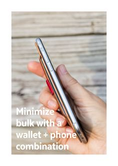 Minimize bulk with a wallet + phone combination