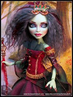 Monster Doll Repaint High Fashion Mohair Reroot by Fantasydolls