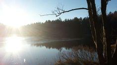 Lake in Änggården, Gothenburg, Sweden.