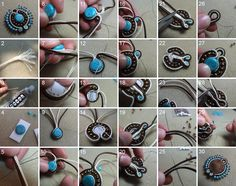 How to create a soutache pendant step by step… Soutache Pendant, Soutache Necklace, Soutache Tutorial, Beaded Jewelry, Handmade Jewelry, Ribbon Embroidery, Embroidery Designs, How To Make Beads, Jewelry Crafts