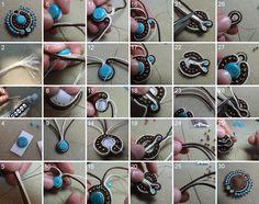 How to create a soutache pendant step by step.    http://www.comocriarbijuterias.com.br/2011/11/passo-passo-de-bijuterias-soutache-tudo.html