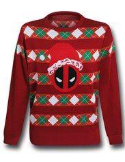 "Deadpool Santa Red ""Christmas Sweater"" Sweatshirt"
