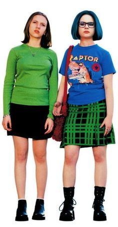 'Ghost World' - Scarlett Johansson and Thora Birch. Costume Designer: Mary Zophres