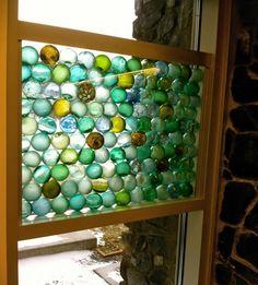Window in the new public library, Kodiak, Alaska.