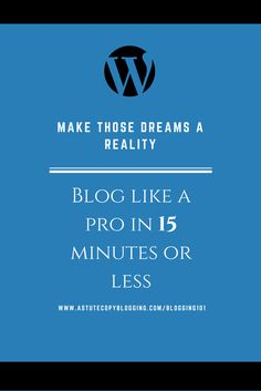 Blogging tips. As simple as 123 - Set up your Blog in less than 15 minutes. And blog like a Pro. Because the world needs to hear your voice!