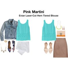 Pink Martini Evian Laser-Cut Hem Tiered Blouse.  Gorgeous color and cut detail.  #stitchfix