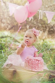 cake smash pink blue outdoors - Google Search