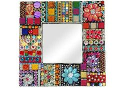 Tapestry Mirror Mosaic Kit - x cm … Mosaic Kits, Mosaic Tile Art, Mirror Mosaic, Mosaic Crafts, Mosaic Projects, Mosaic Glass, Glass Art, Mosaics, Fused Glass