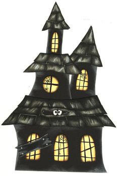 Halloween Gif (Page ~ The magical world of dreams Source by Retro Halloween, Casa Halloween, Halloween Village, Halloween Clipart, Halloween Haunted Houses, Halloween Pictures, Halloween Cards, Holidays Halloween, Halloween Themes