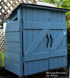 Diy Trash Can Shed - Genius