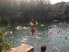 Best Swimming Spots in Minnesota – The Quarries in Waite Park – Val the Backpacker Vacation Trips, Vacation Spots, Vacation Ideas, Vacations, Oh The Places You'll Go, Places To Visit, Minnesota Home, Feeling Minnesota, Best Swimming