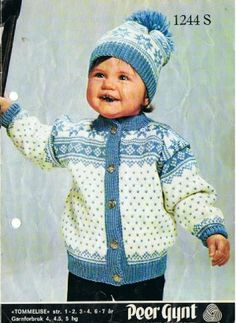 Tommelise 1244 S Knitting For Kids, Crochet For Kids, Baby Knitting, Crochet Baby, Knit Crochet, Sweater Knitting Patterns, Knit Patterns, Norwegian Knitting, Baby Barn