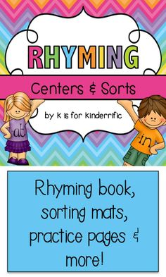 Rhyming practice for Kindergarten! $