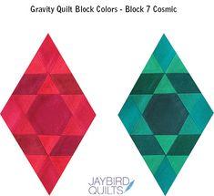 Gravity Quilt Block Colors - Block 7 Cosmic | Jaybird Quilts