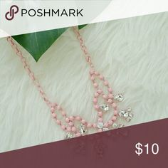Pink Glam Necklace Pink glam necklace  Material - base metal,  glass crystals.  Brand new in original package. T&J Designs Jewelry Necklaces