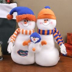 Florida Gators Tabletop Snowman Family Plush Figurine