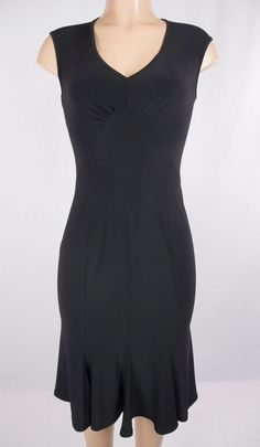 JOSEPH RIBKOFF Dress Size 6 S Little Black Dress Form Fit #JosephRibkoff #Cocktail