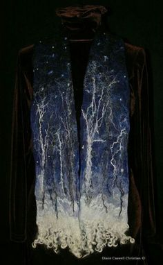 Diane Caswell Christian,  night sky scarf