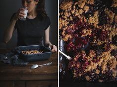 Blackberry Whole Grain Crumble for breakfast by Tanya Balyanitsa (Honeytanie.com)