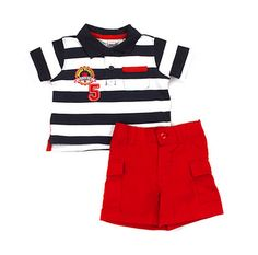 Baby Togs 2 piece short set, available at http://ilovebabyclothes.com/?page_id=198 $9.99
