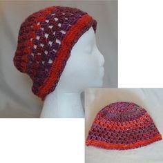 Granny Stitch Crochet Beanie - Winery by BowsysBoutique  http://etsy.me/2fhxE3i #handmade #crochetbeanie #grannystitch #winery