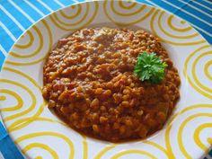 From Veggie to (clean) Vegan: {Clean Eating} Rhabarber-Linsen-Dhal