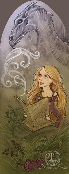Luna Lovegood bookmark Harry Potter by NatasaIlincic on Etsy