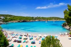 The white beaches and turquoise blue sea in Portinax is a paradise.