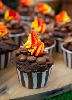 Feuer cupcakes
