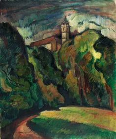 OTAKAR NEJEDLÝ (1883 - 1957) Mělník Castle