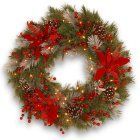 24 in. Decorative Collection Tartan Plaid Wreath
