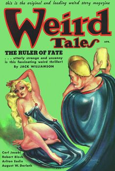 Margaret Brundage, Weird Tales 36-04. Contains the final installment of The Hour of the Dragon.