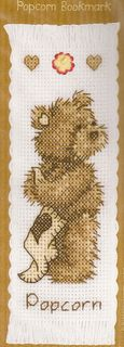 Cross-stitch Popcorn Bookmark, part 1