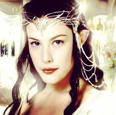I have always loved the idea of using a headdress rather than a veil. This one, of course, is my favorite because it's so beautiful and ornate Hugo Weaving, Orlando Bloom, Cate Blanchett, Tolkien, Arwen Undomiel, Lotr Trilogy, Liv Tyler 90s, Jackson, Lord Of The Rings