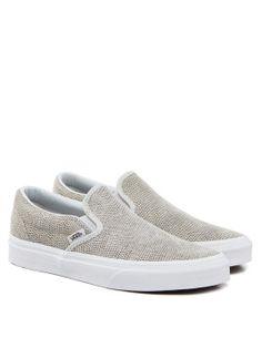 Pebble Snake Slipper Hellgrau von Vans. Die klassischen Slip-On Sneakers sind ein Must-Have für jeden Kleiderschrank.