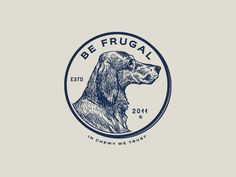 Be Frugal - Direction 2 designed by Peter Bacallao for chewy. Brand Identity Design, Branding Design, Old School Design, Word Mark Logo, Old Logo, Marca Personal, Great Logos, Logo Restaurant, Retro Logos