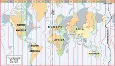 Time Zones - you can also use this website as well: http://www.time-for-time.com/zoneinfo.htm