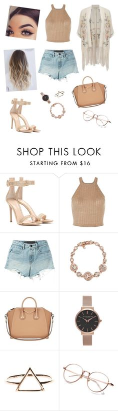 """Shopping Day #23"" by rachelscarlette ❤ liked on Polyvore featuring Gianvito Rossi, T By Alexander Wang, Givenchy, Olivia Burton and Miss Selfridge"