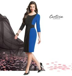 Black and royal dress! #fallfashion #musthave #Cartise #women #apparel #coloryourlife www.cartise.ca