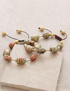 Tibetan Dharma Prayer Wheel Bracelet
