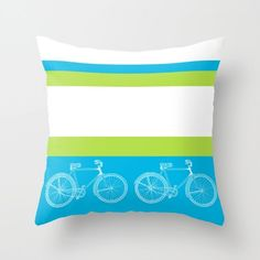 Bicycle Throw Pillow  Ride With Me cute by ArtfullyFeathered