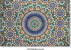 moroccan vintage tile background - Artwork - Art Print from FreeArt.com Normal Wallpaper, Tile Wallpaper, Textured Wallpaper, Photo Wallpaper, Adhesive Wallpaper, Tile Art, Mosaic Tiles, Mosaic Glass, Vintage Tile